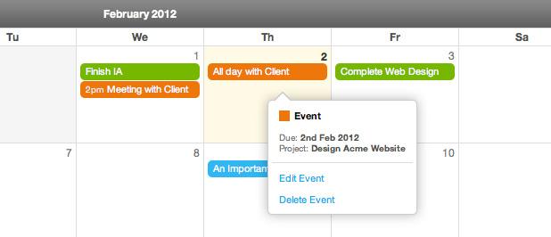 Introducing the Project Calendar