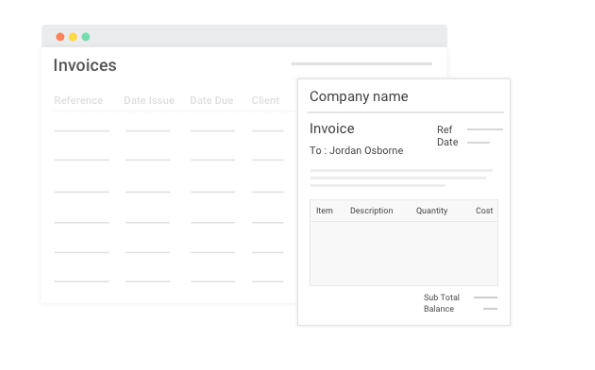 Invoice feature in project management software