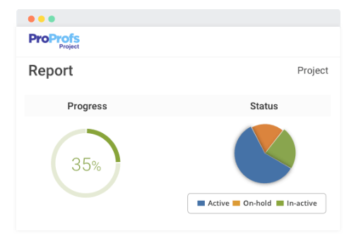 Project management software reports