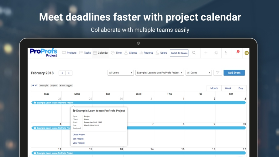 ProProfs Project-Project Management tool