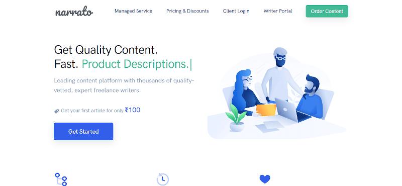 Narrato.io -content creation tool