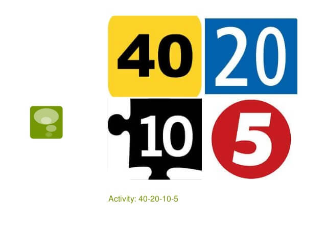 Problem Solving Activities 40-20-10-5
