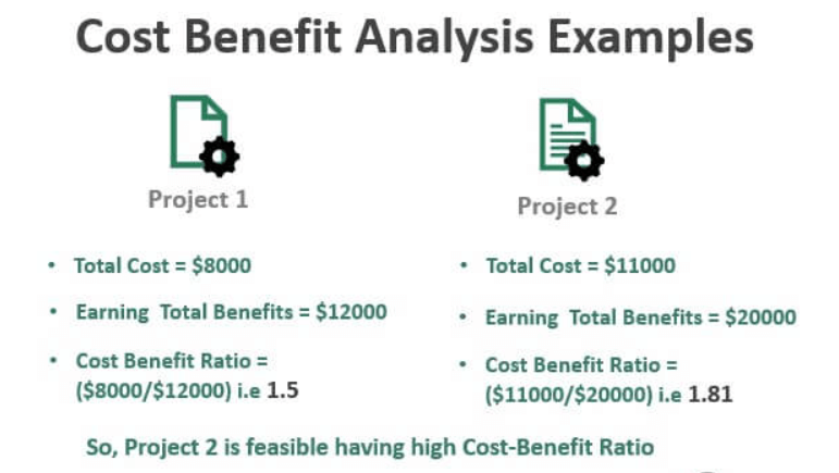 Project cost analysis Examples