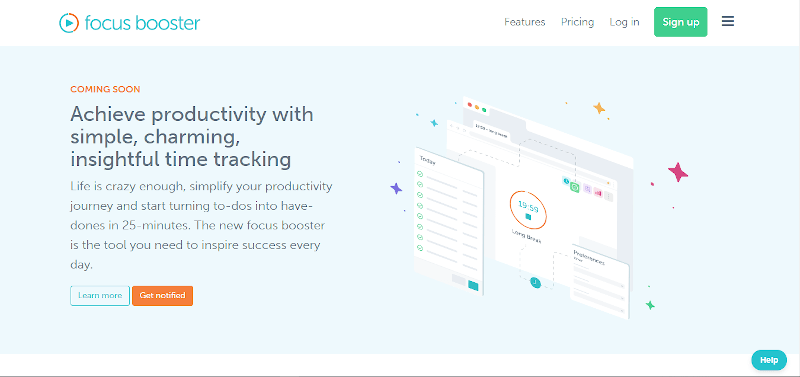 Focus booster productivity tracking tool