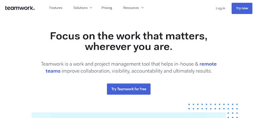 Teamwork Projects Scheduling Tool